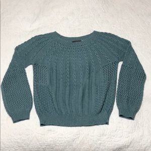 Anthropologie Guinevere Sea Blue Sweater sz XL
